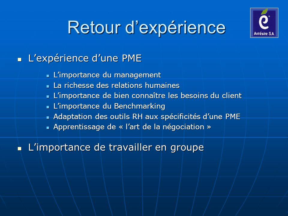 Retour d'expérience L'expérience d'une PME