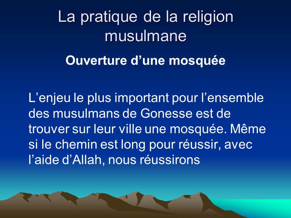 La pratique de la religion musulmane