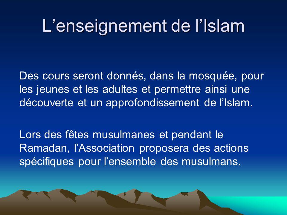 L'enseignement de l'Islam