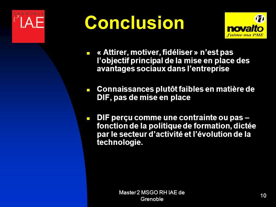 Master 2 MSGO RH IAE de Grenoble