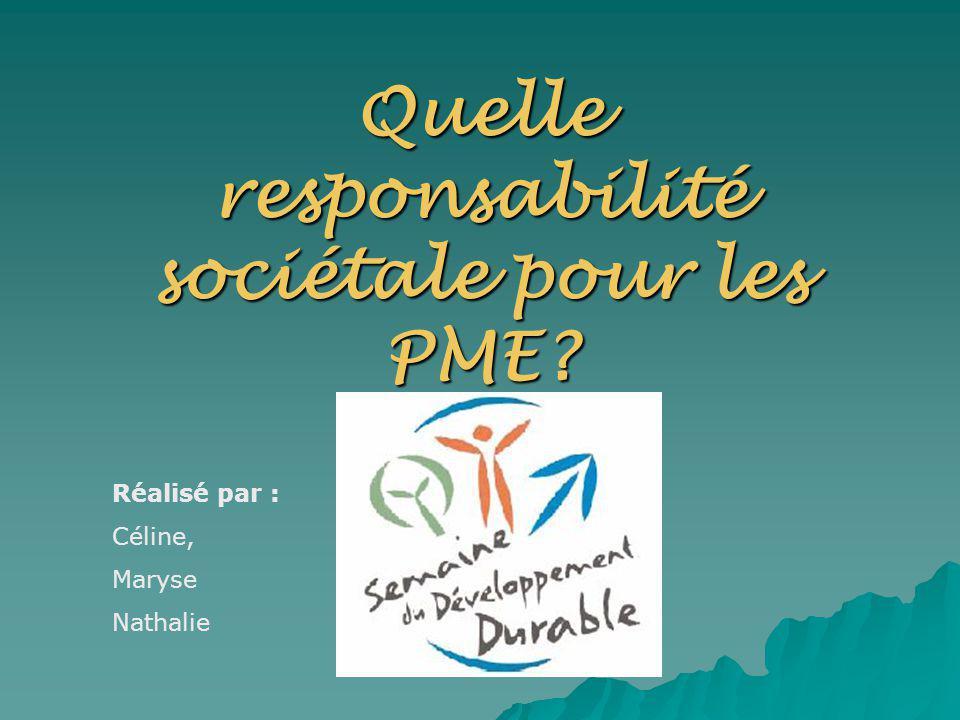 Quelle responsabilité sociétale pour les PME
