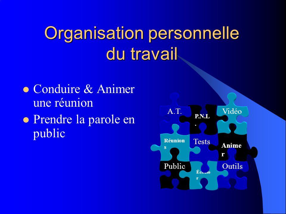 Organisation personnelle du travail