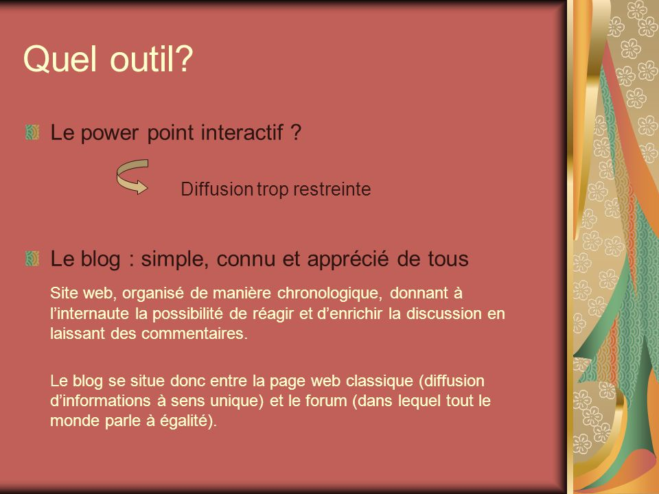 Quel outil Le power point interactif