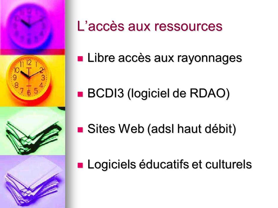 L'accès aux ressources