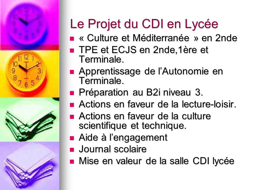 Le Projet du CDI en Lycée
