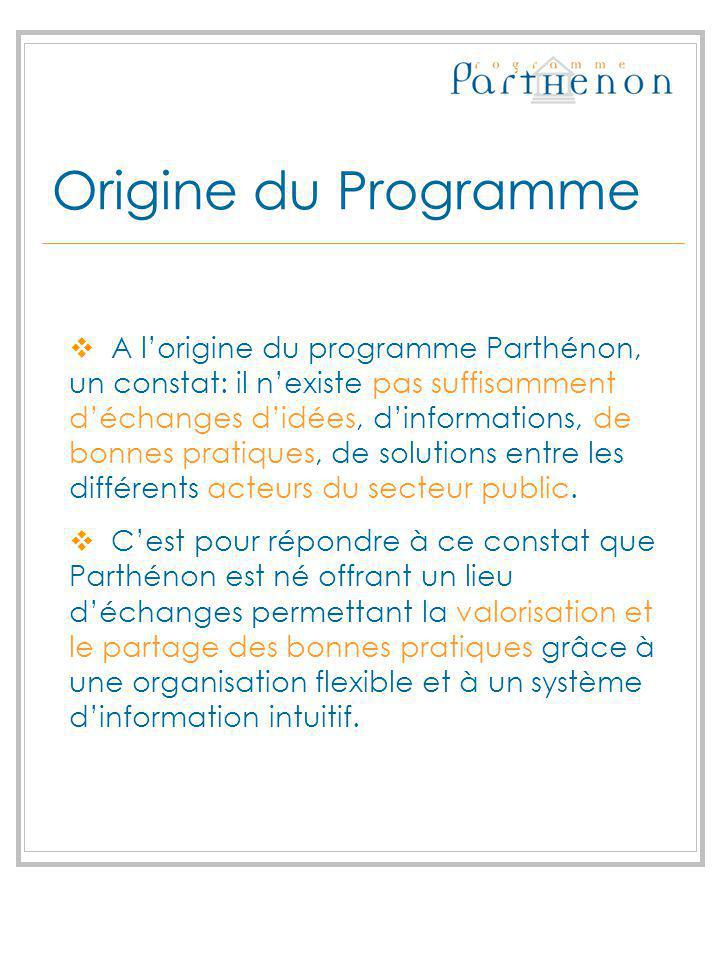 Origine du Programme