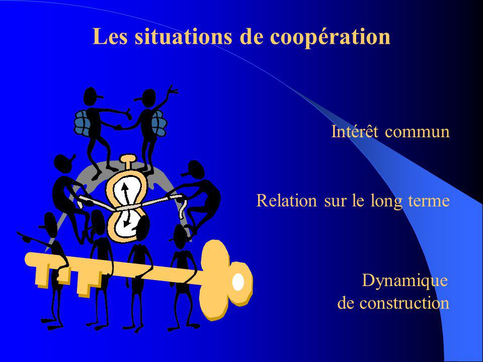 Les situations de coopération