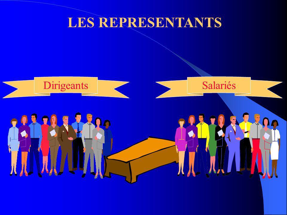 LES REPRESENTANTS Dirigeants Salariés
