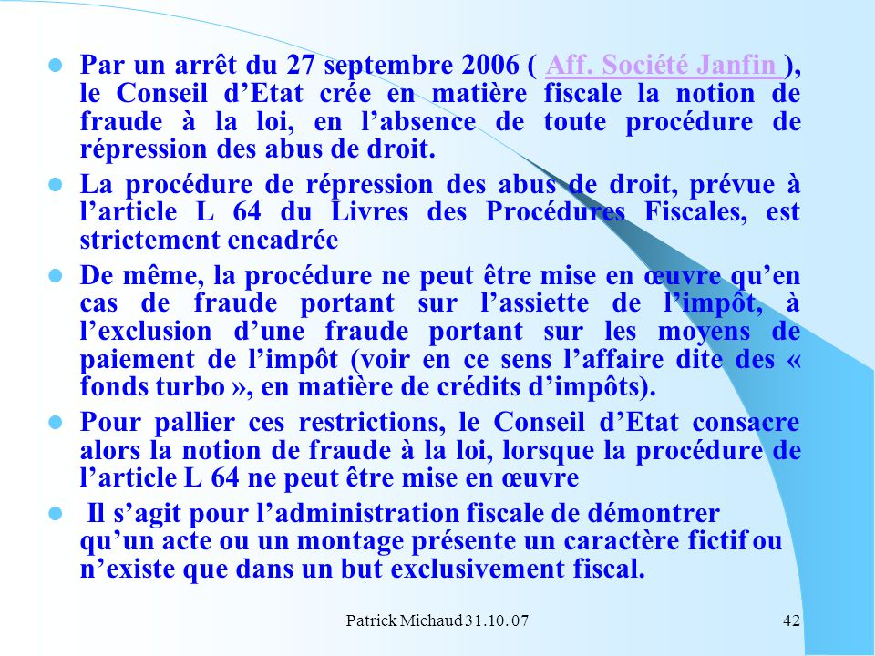 Par un arrêt du 27 septembre 2006 ( Aff