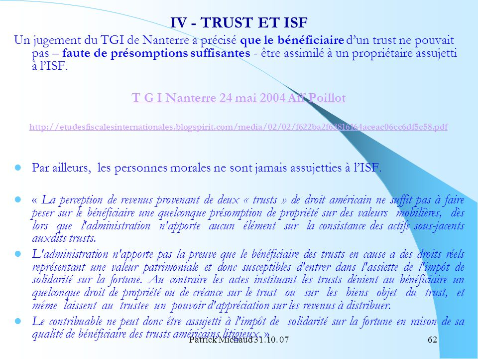T G I Nanterre 24 mai 2004 Aff Poillot