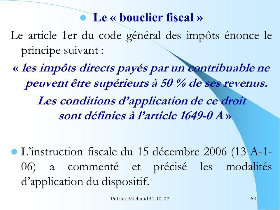 Le article 1er du code général des impôts énonce le principe suivant :
