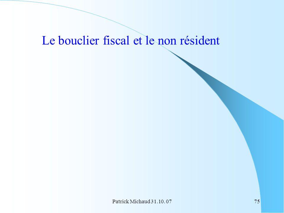 Le bouclier fiscal et le non résident