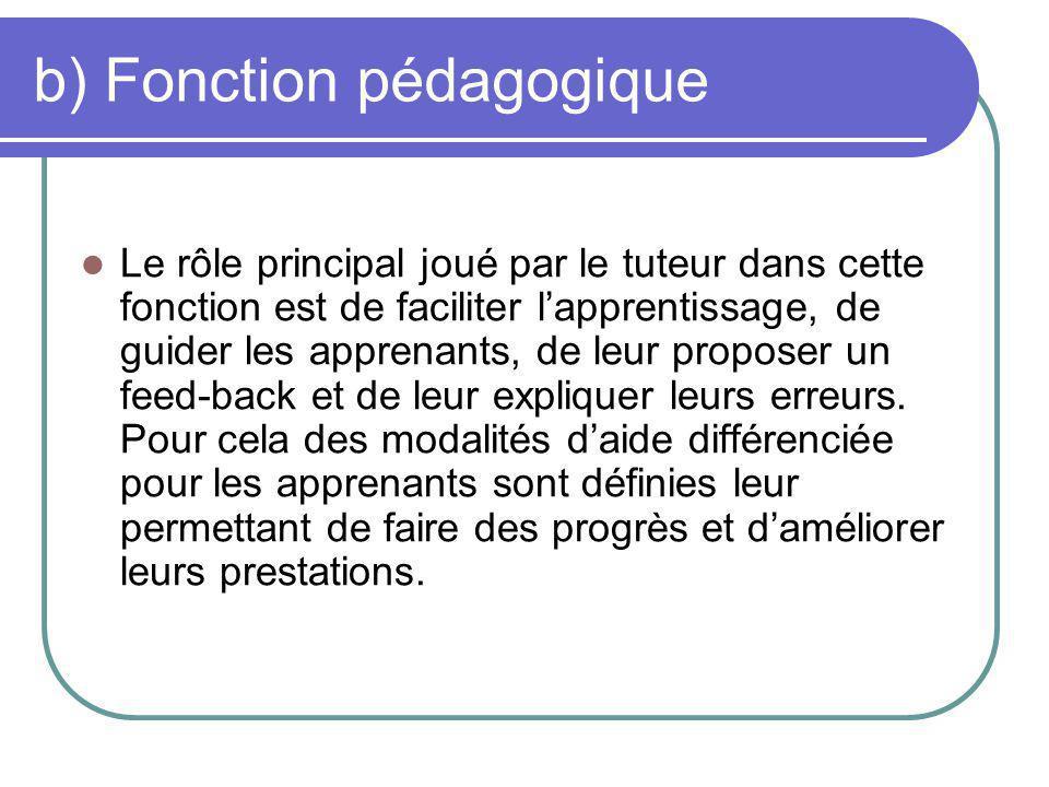 b) Fonction pédagogique