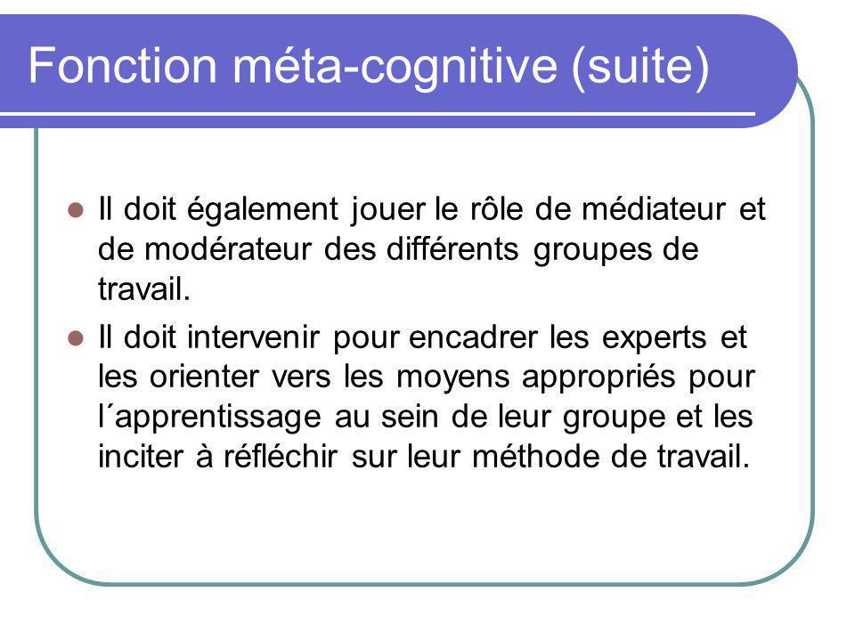 Fonction méta-cognitive (suite)