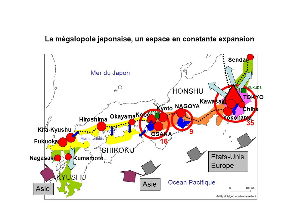 La mégalopole japonaise, un espace en constante expansion