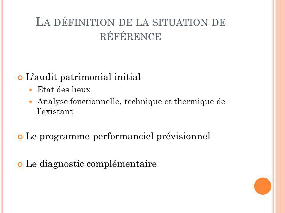 La définition de la situation de référence