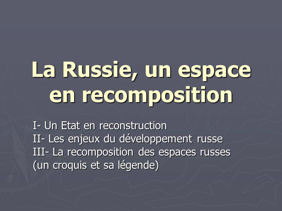La Russie, un espace en recomposition