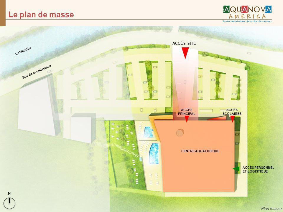 Le plan de masse ACCÈS SITE N Plan masse La Meurthe
