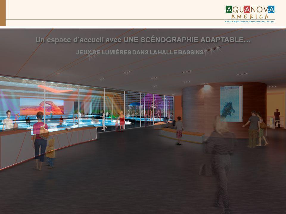 Un espace d'accueil avec UNE SCÉNOGRAPHIE ADAPTABLE…