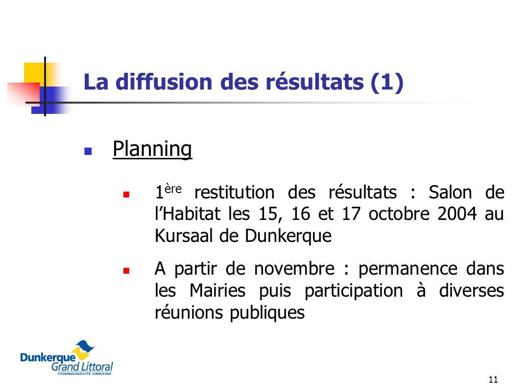 La diffusion des résultats (1)