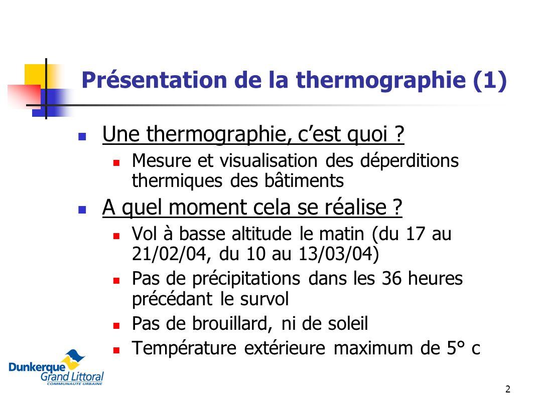 Présentation de la thermographie (1)
