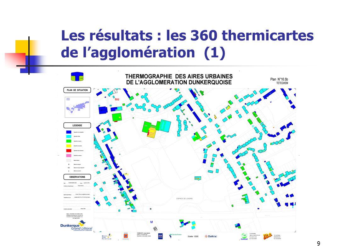 Les résultats : les 360 thermicartes de l'agglomération (1)