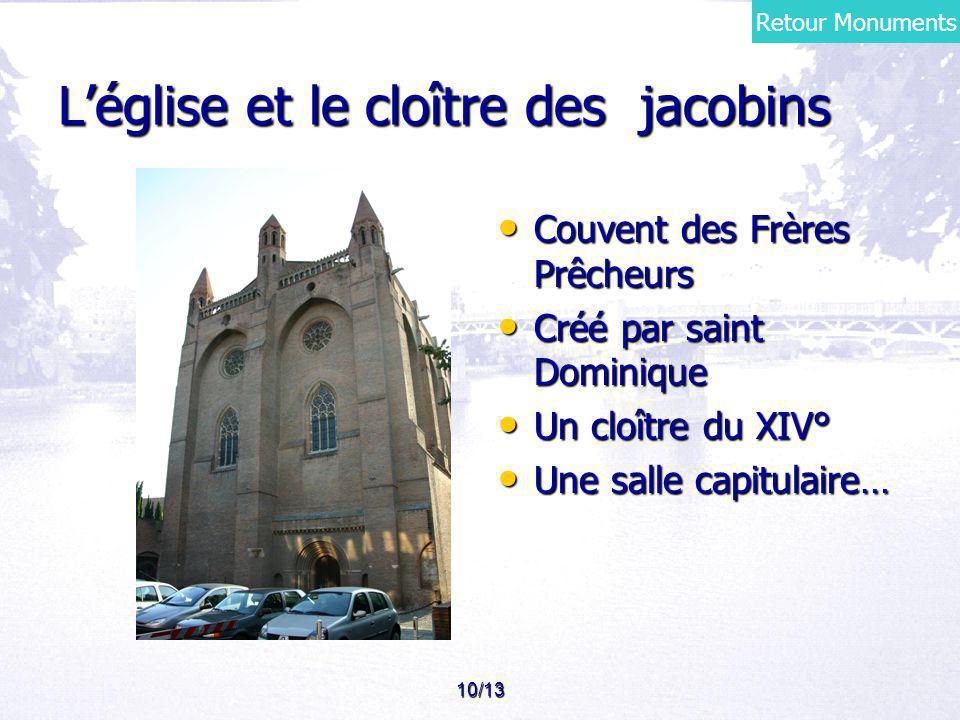 L'église et le cloître des jacobins
