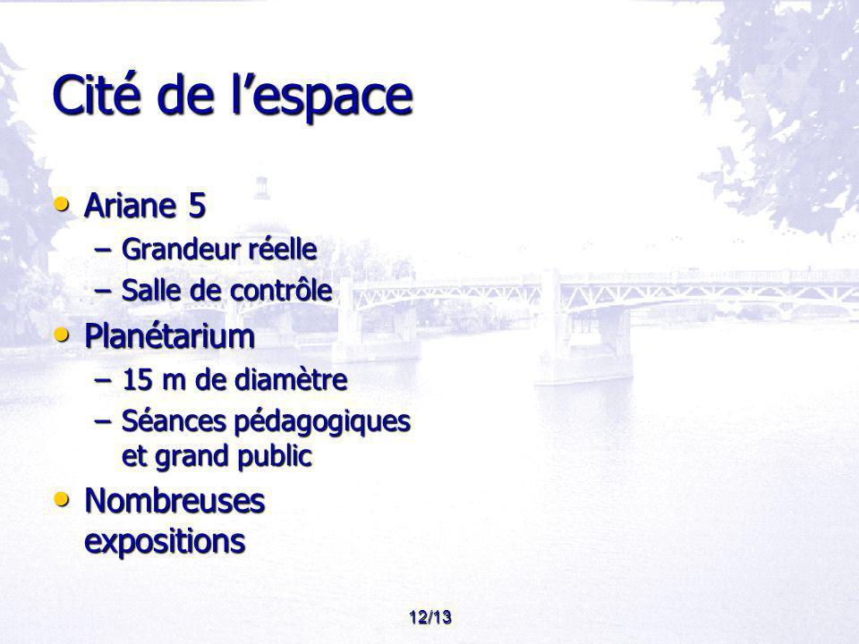Cité de l'espace Ariane 5 Planétarium Nombreuses expositions