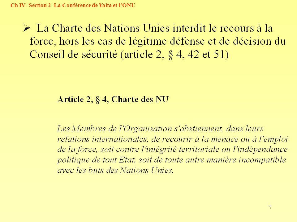 Ch IV- Section 2 La Conférence de Yalta et l'ONU