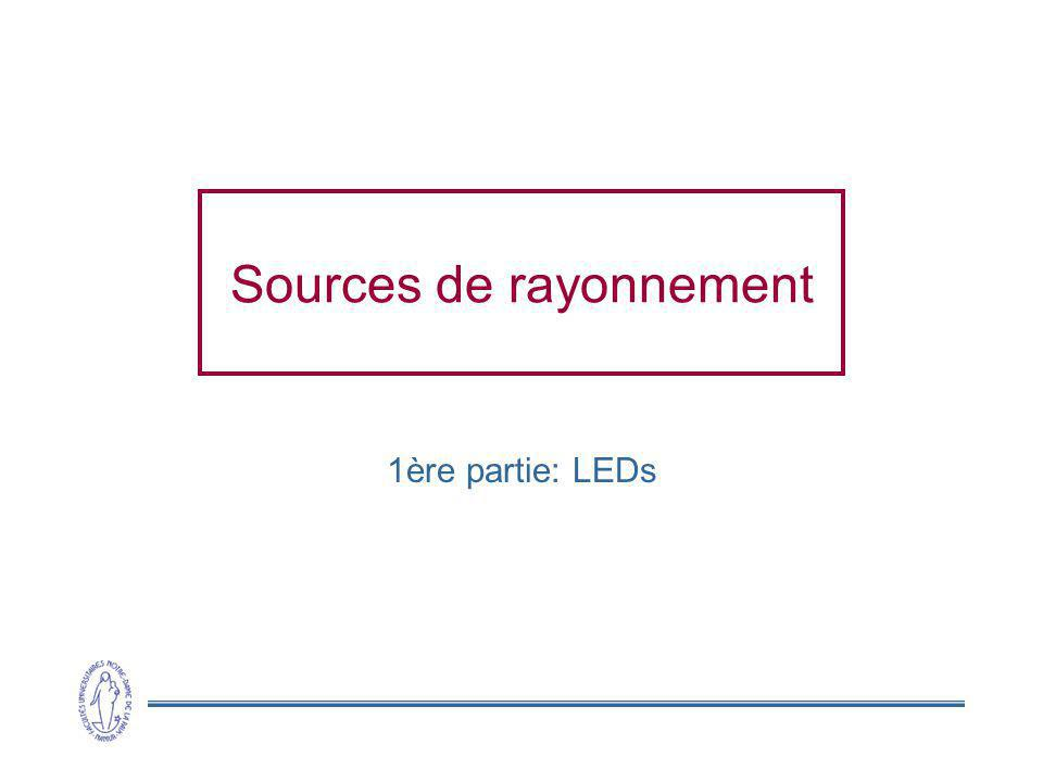 Sources de rayonnement