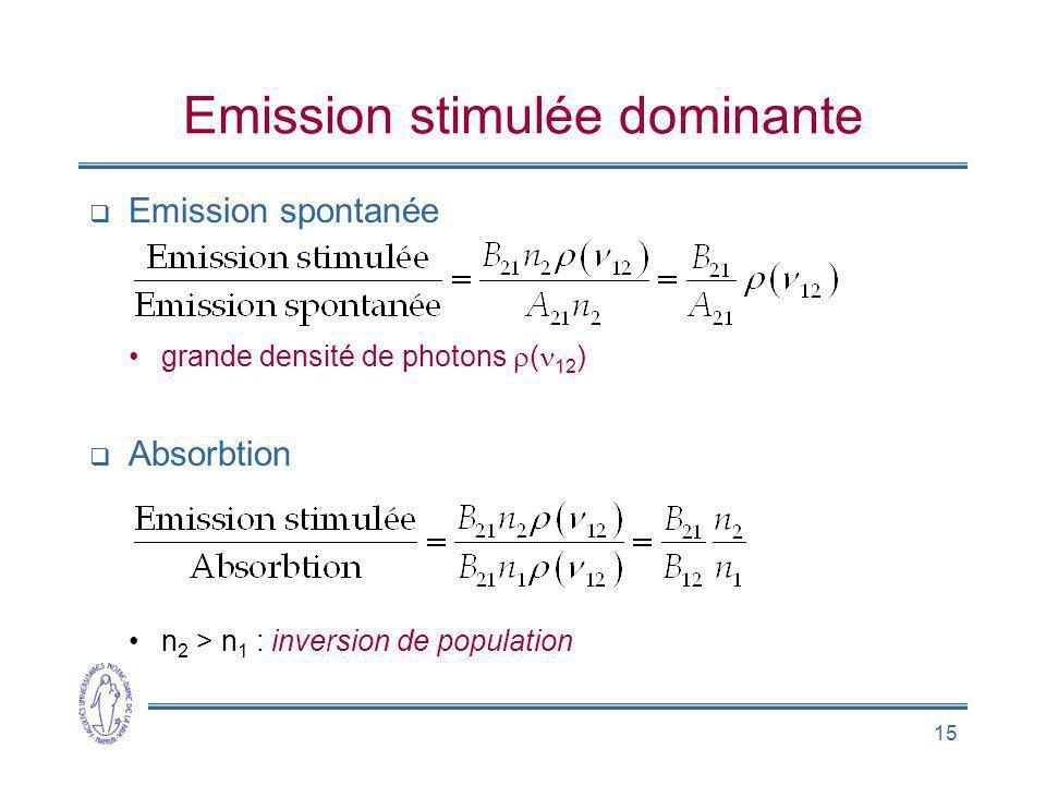 Emission stimulée dominante