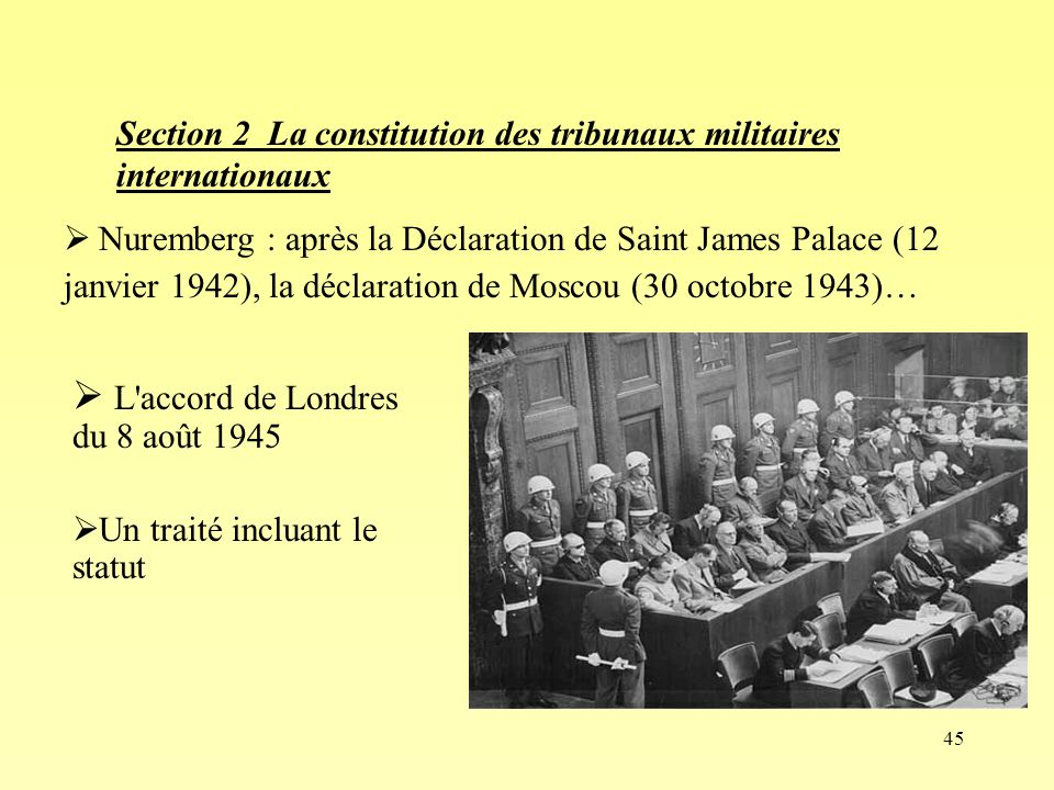 L accord de Londres du 8 août 1945