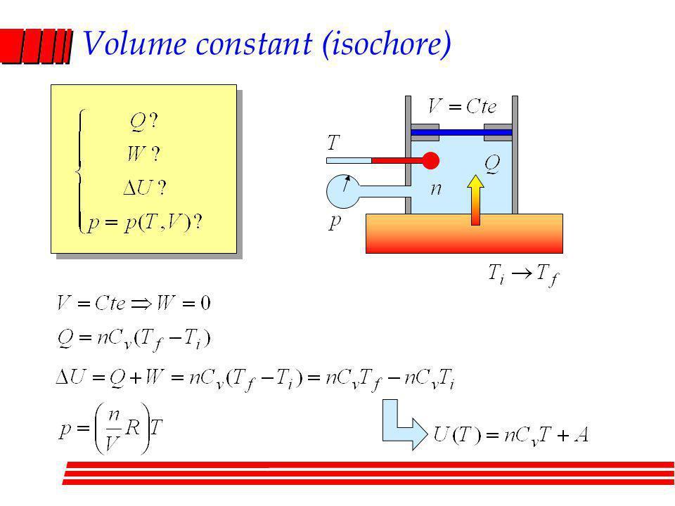 Volume constant (isochore)