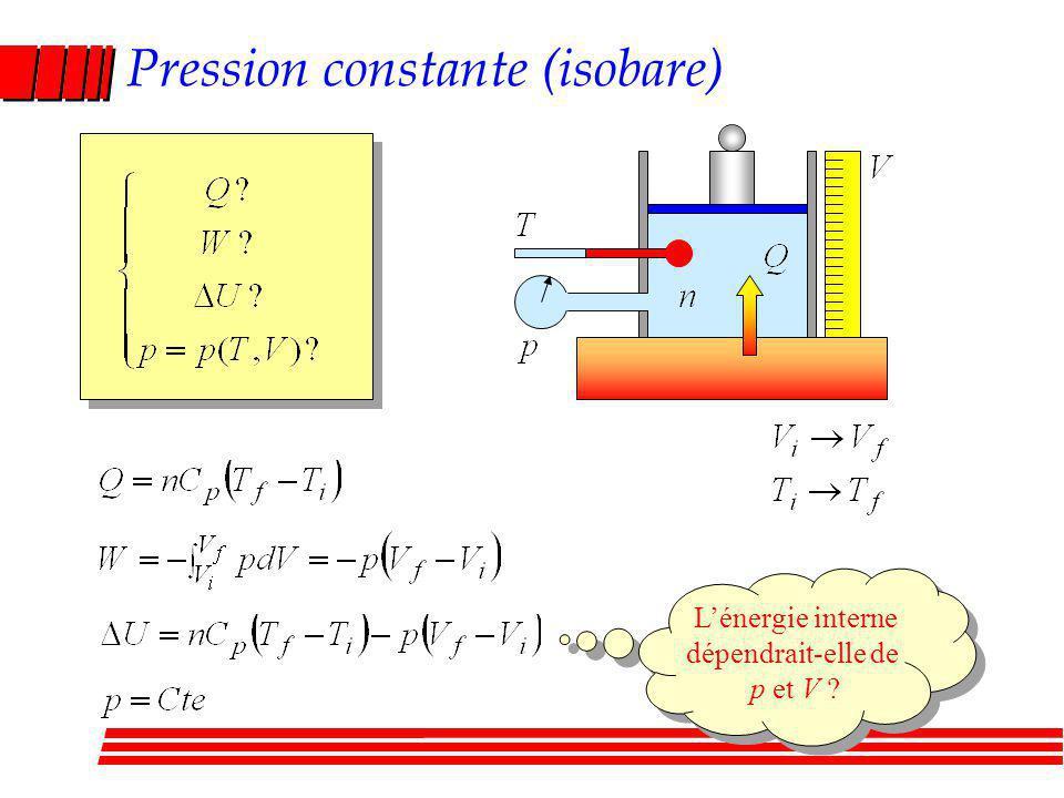 Pression constante (isobare)
