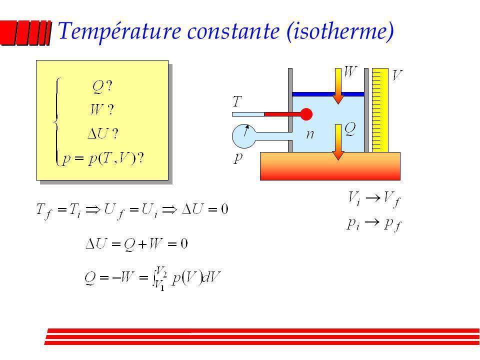 Température constante (isotherme)