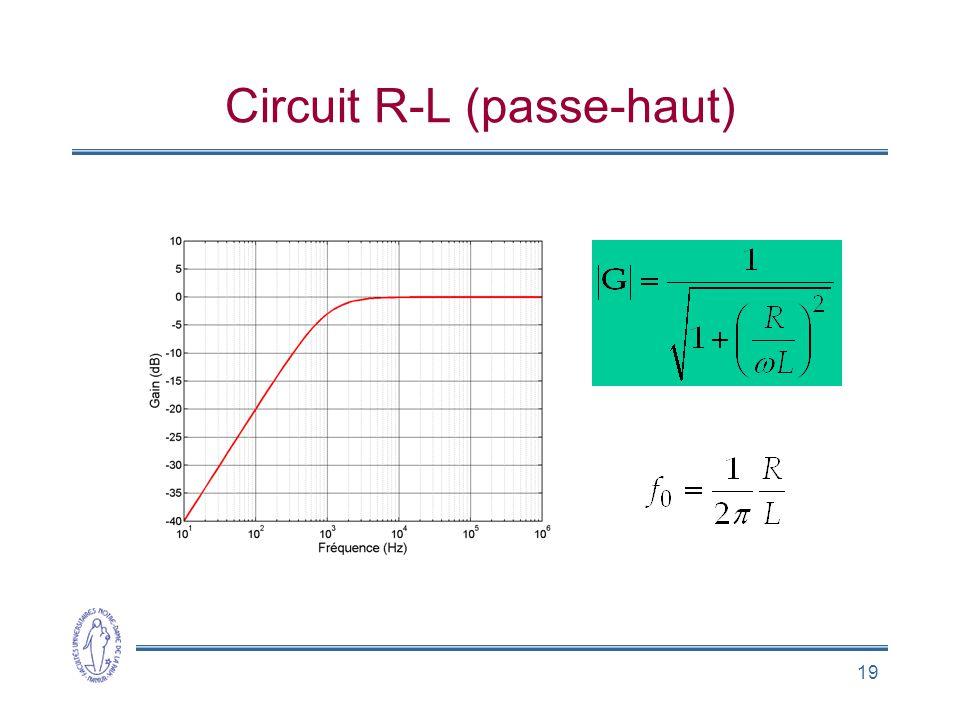 Circuit R-L (passe-haut)