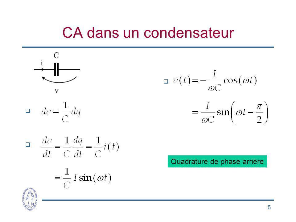 CA dans un condensateur