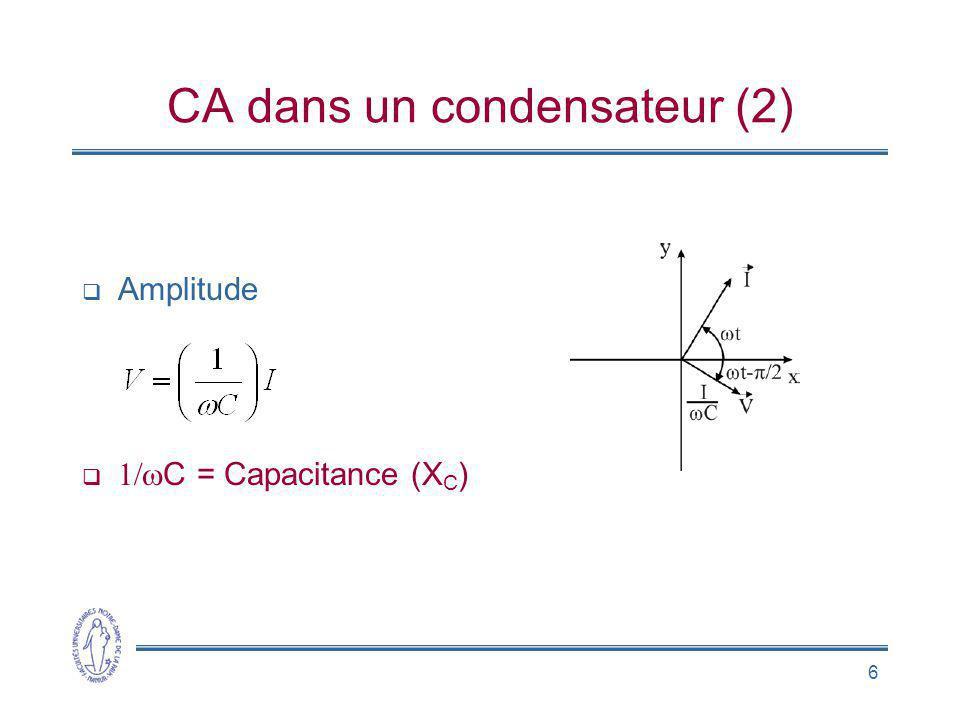 CA dans un condensateur (2)