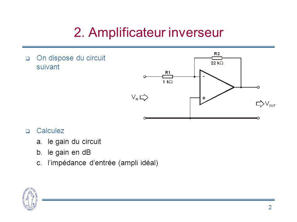 2. Amplificateur inverseur