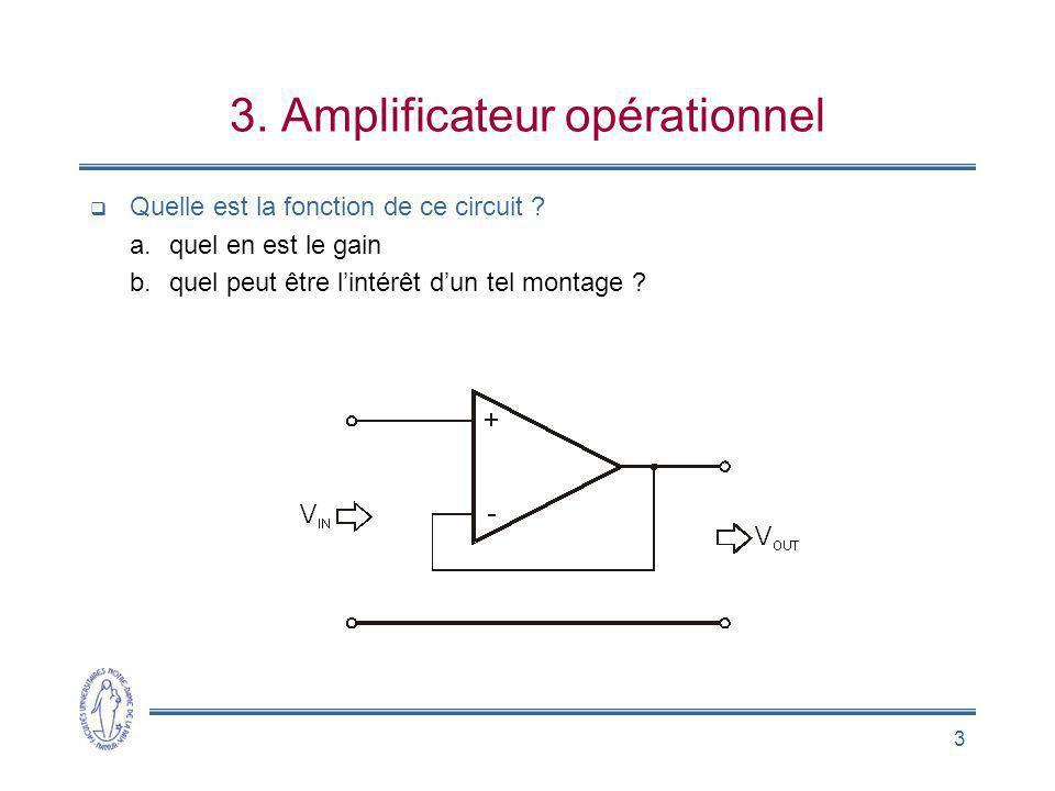 3. Amplificateur opérationnel