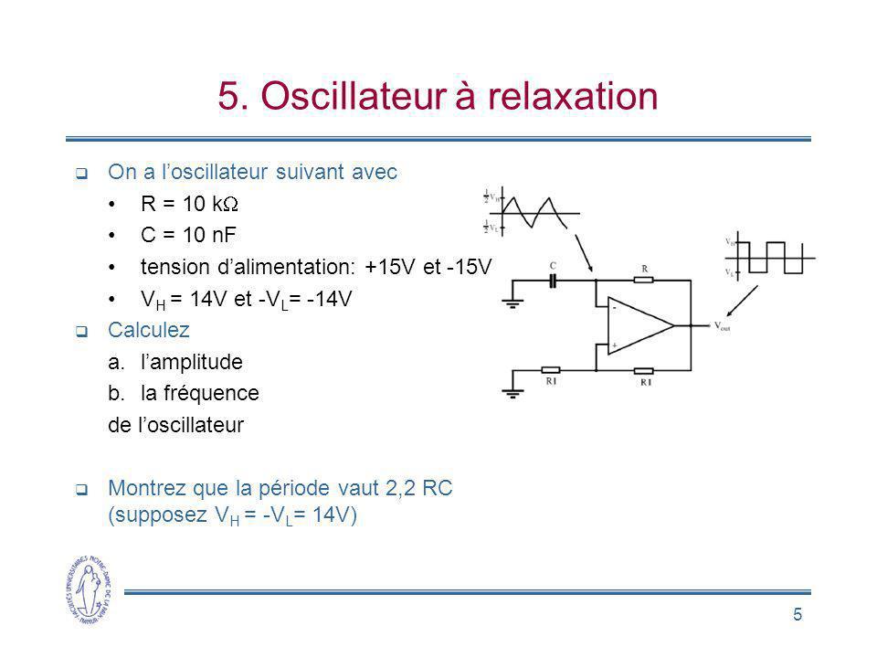 5. Oscillateur à relaxation