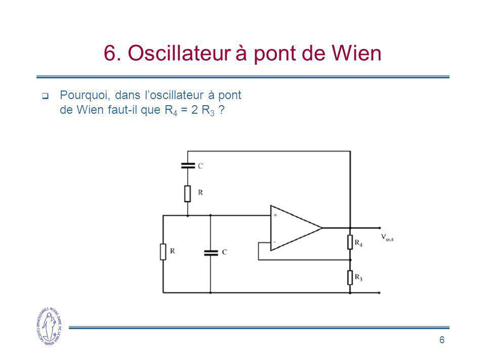 6. Oscillateur à pont de Wien