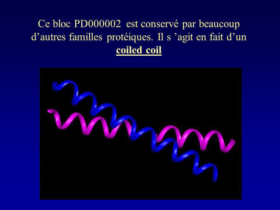 Ce bloc PD000002 est conservé par beaucoup d'autres familles protéiques.