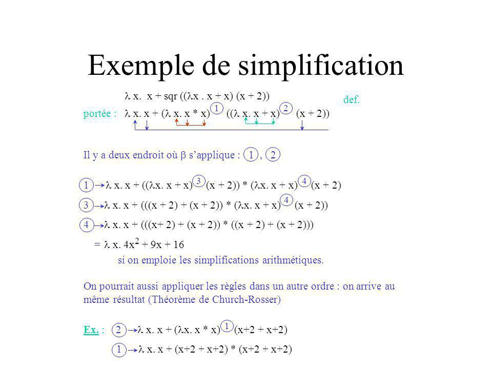 Exemple de simplification