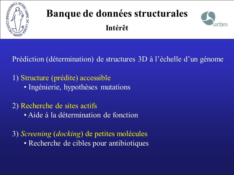 Banque de données structurales
