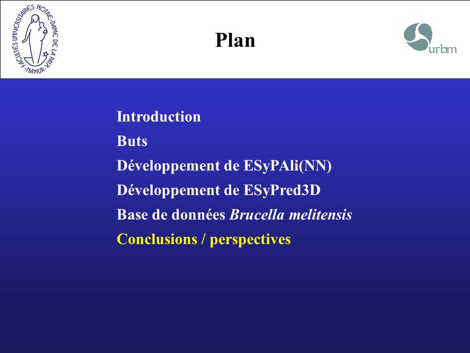 Plan Introduction Buts Développement de ESyPAli(NN)