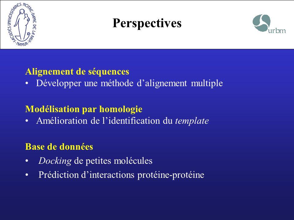 Perspectives Alignement de séquences
