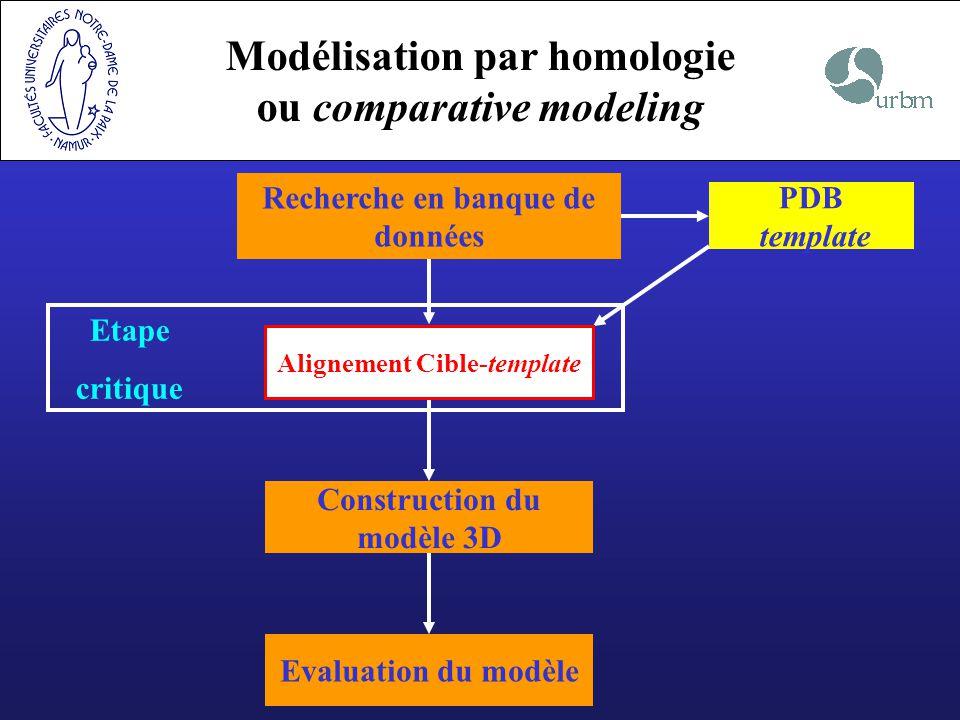 Modélisation par homologie ou comparative modeling