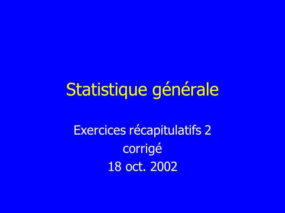 Exercices récapitulatifs 2 corrigé 18 oct. 2002