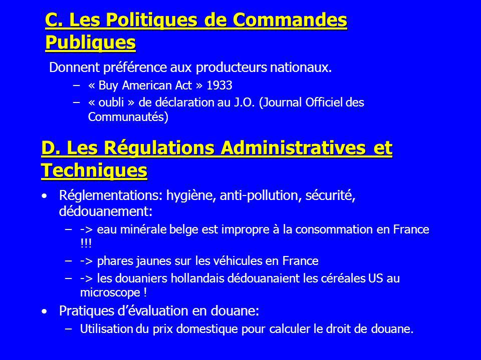 C. Les Politiques de Commandes Publiques